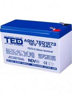 Acumulator pentru UPS AGM VRLA 12V 7.3A, TED1273