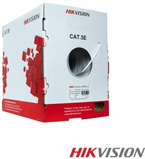 Rola cablu de retea 305m UTP cat 5e Cu-Al Gri, HIKVISION HWC-5EAU-G