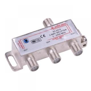 Splitter coaxial (antena tv) 3 porturi 5-2450 MHZ, ZLA0636