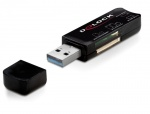Card Reader USB 3.0 cu 3 sloturi 40 in 1, Delock 91718
