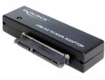 """Adaptor portabil USB 3.0 la SATA III pentru HDD/SSD 2.5""""+3.5"""", Delock 62486"""