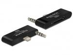 Adaptor Lightning IPhone 5 cu Audio la IPhone 4 30 pini, Delock 65493