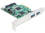PCI Express cu 2 x USB 3.0 externe , 2 x SATA 6 Gb/s interne, Delock 89359