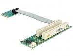 Riser Card Mini PCIe la 2 x PCI 32Biti 5V cablu flexibil, Delock 41355