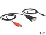 Adaptor Micro USB la Serial RS-232 pentru Android, Delock 62533