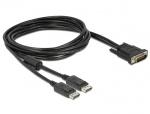 Cablu DMS-59 T la 2 x DisplayPort T 2m, Delock 83507