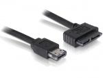 Cablu eSATAp la Slim SATA 13 pini 5V 0.5m, Delock 84413