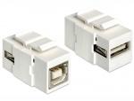 Modul Keystone USB 2.0 tip A M la USB 2.0 tip B M, Delock 86320
