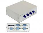 Switch Serial RS-232 4 porturi manual, Delock 87589