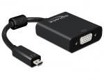 Adaptor micro HDMI-D la VGA cu Audio T-M, Delock 65558