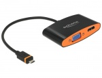 Adaptor SlimPort / MyDP la HDMI/VGA + Micro USB, Delock 65561