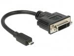 Adaptor micro HDMI-D la DVI 24+5 pini T-M 20cm, Delock 65563